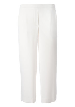 P.A.R.O.S.H. straight cropped trousers - White