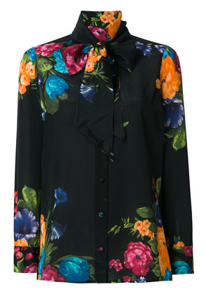 Gucci Pictoral Bouquet print blouse - Black