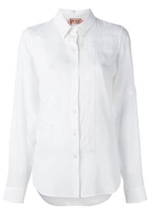 No21 lace-trimmed shirt - White