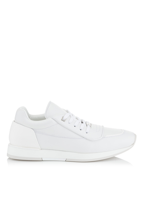 JETT White Soft Leather Low Top Trainer