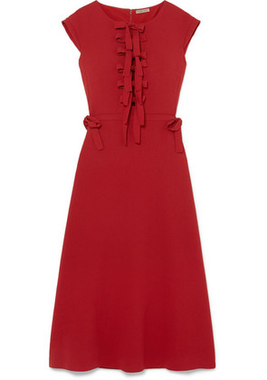 Bottega Veneta - Bow-detailed Crepe Midi Dress - Red