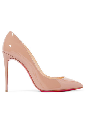 Christian Louboutin - Pigalle 100 Patent-leather Pumps - Beige