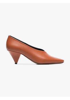 Neous black and brown Eralda 60 leather pumps