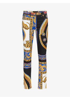 Versace black the lovers print jeans