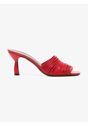 Neous red Shom 70 multi strap leather mules