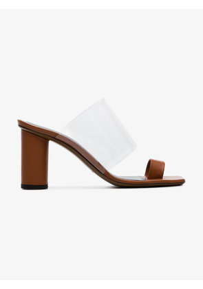 Neous brown Chost 80 leather PVC sandals