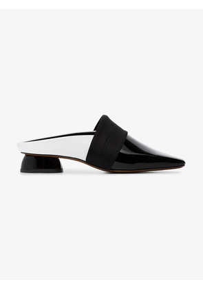 Neous black and white Zygo 15 patent leather flat loafers