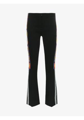 Versace Pillow Talk Tape print flared trousers