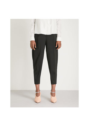 Earl relaxed-fit mid-rise crepe trousers