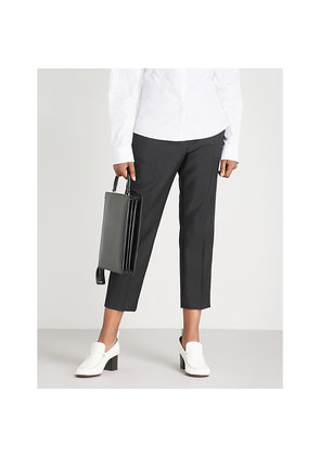 Donald tailored-fit mid-rise wool and mohair-blend trousers