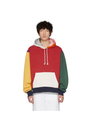 424 Multicolor Colorblocked Oversized Hoodie