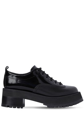 60MM SHINY & MATTE LEATHER LACE-UP SHOES