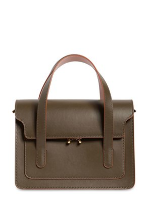 TRUNK LEATHER TOP HANDLE BAG