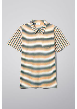 Otto Striped Polo - White