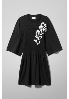 Stacked T-shirt Dress - Black