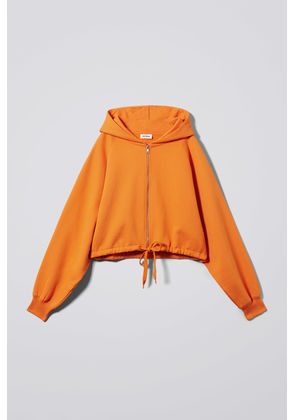 Center Zip Sweatshirt - Orange