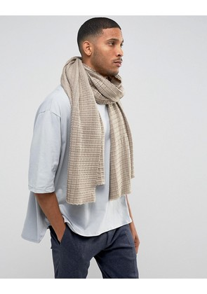 ASOS Knitted Blanket Scarf In Taupe - Taupe