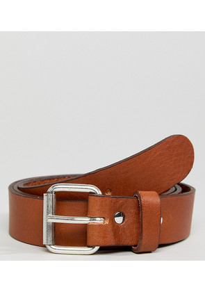 Weekday Perfect Tan Leather Belt - Tan
