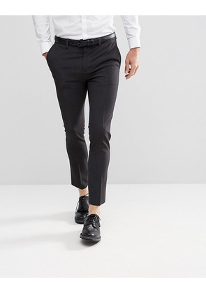 ASOS Extreme Super Skinny Cropped Smart Trousers in Charcoal - Charcoal