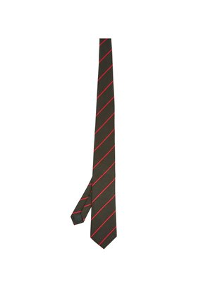 Striped wool and silk-blend tie