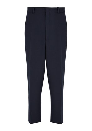 High-waist pressed trousers