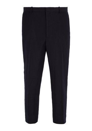 Slim-fit wool and mohair-blend trousers