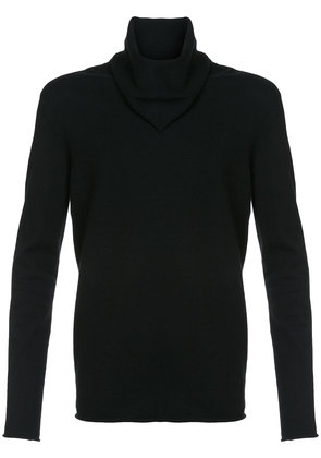 Label Under Construction longsleeved fitted sweater - Black
