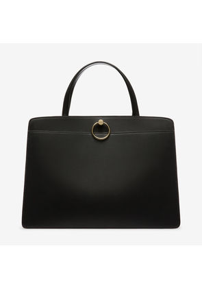 Bally Lottie Tote Black, Women's calf leather tope handle bag in black
