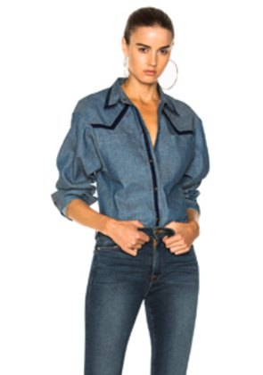 JEAN ATELIER Wyatt Button Down Shirt in Blue