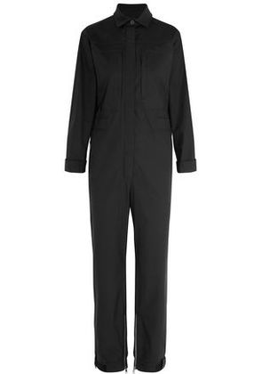 Valentino Woman Cotton-blend Poplin Jumpsuit Black Size 38