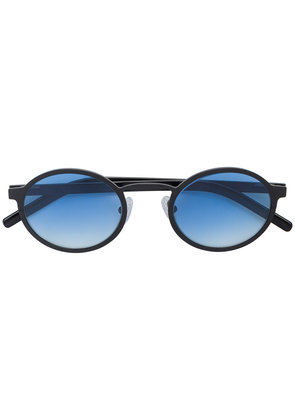 Blyszak black Oval Sunglasses with Ocean Gradient Lenses