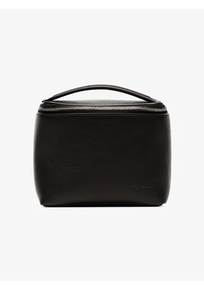 Rick Owens black leather beauty case