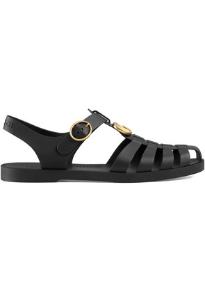 Gucci Rubber buckle strap sandals - Black