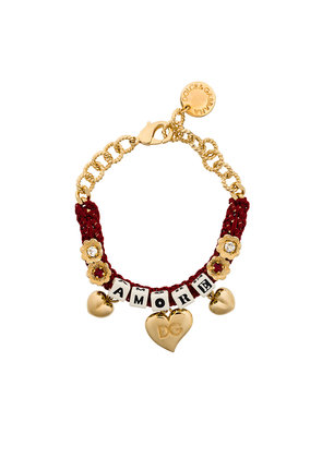 Dolce & Gabbana woven Amore bracelet - Red