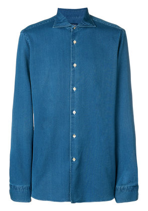 Borriello micro textured denim shirt - Blue