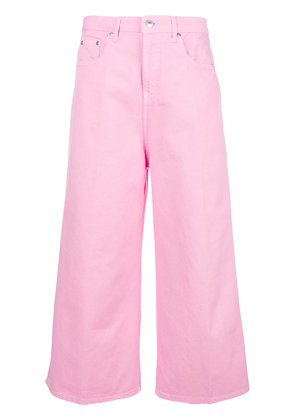 MSGM cropped wide leg jeans - Pink