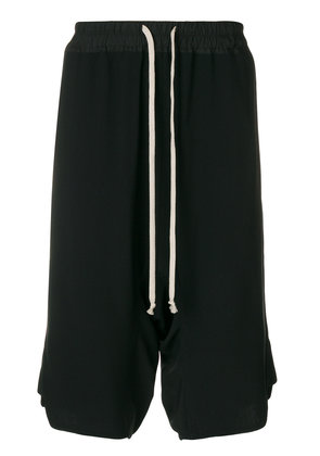 Rick Owens dropped crotch shorts - Black