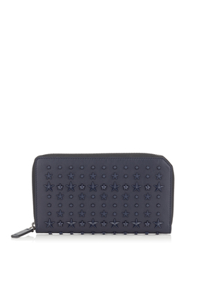 CARNABY Navy Leather Travel Wallet with Mixed Stars