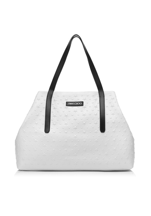 PIMLICO Chalk Grainy Leather Tote Bag with Embossed Stars