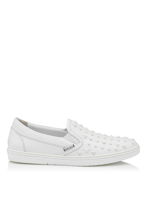 GROVE Ultra White Sport Calf with Mixed Stars Slip On Trainers
