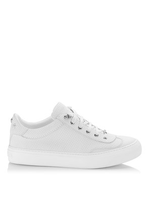 ACE White Point Embossed Nubuck with Steel Stars Low Top Trainers