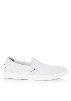 GROVE White Point Embossed Nubuck with Steel Stars Slip On Trainers