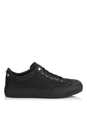 ACE Black Point Embossed Nubuck with Steel Stars Low Top Trainers