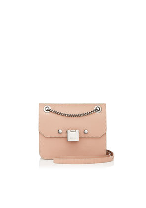 REBEL/XB Ballet Pink Soft Grained Goat Leather Cross Body Bag