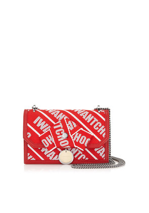 FINLEY Red and Rosewater Logo Tape Cross Body Mini Bag with Bow