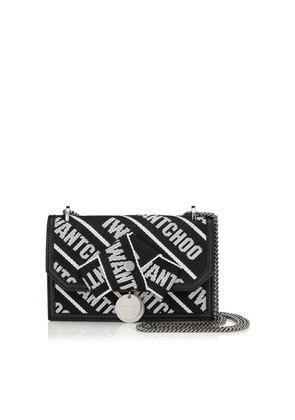 FINLEY Black and Chalk Logo Tape Cross Body Mini Bag with Bow