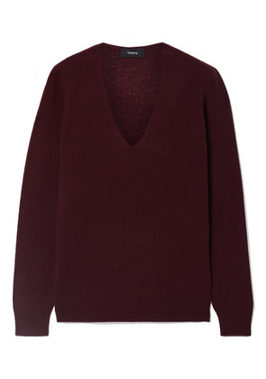 Theory - Adrianna Cashmere Sweater - Burgundy