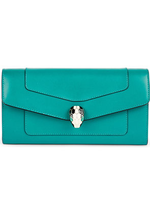 Bvlgari Continental leather wallet, Emerald green