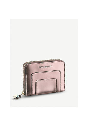 Serpenti Forever metallic-leather wallet