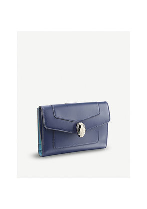 Serpenti Forever leather credit card holder